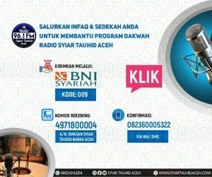 Donasi Radio Syiar Tauhid Aceh