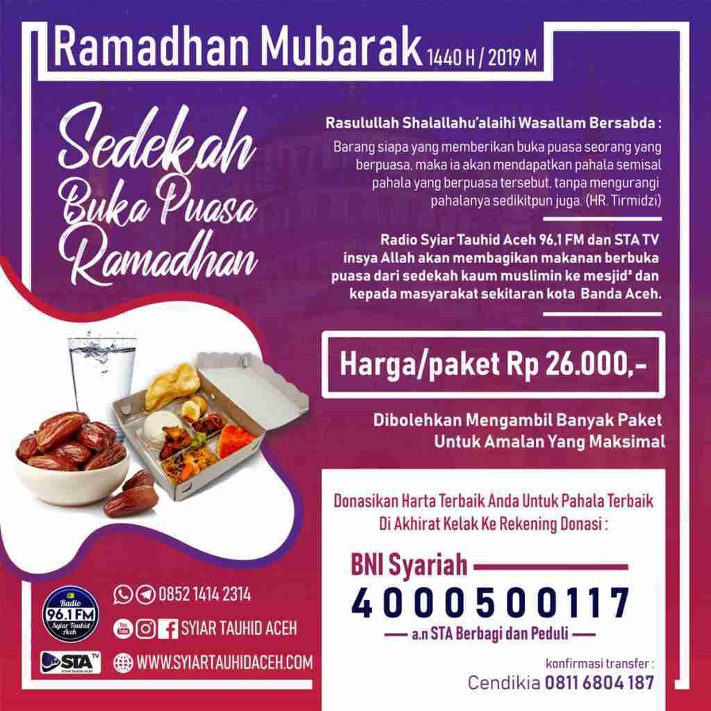Berbagi Buka Puasa Ramadhan 1440 H Bersama Syiar Tauhid Aceh
