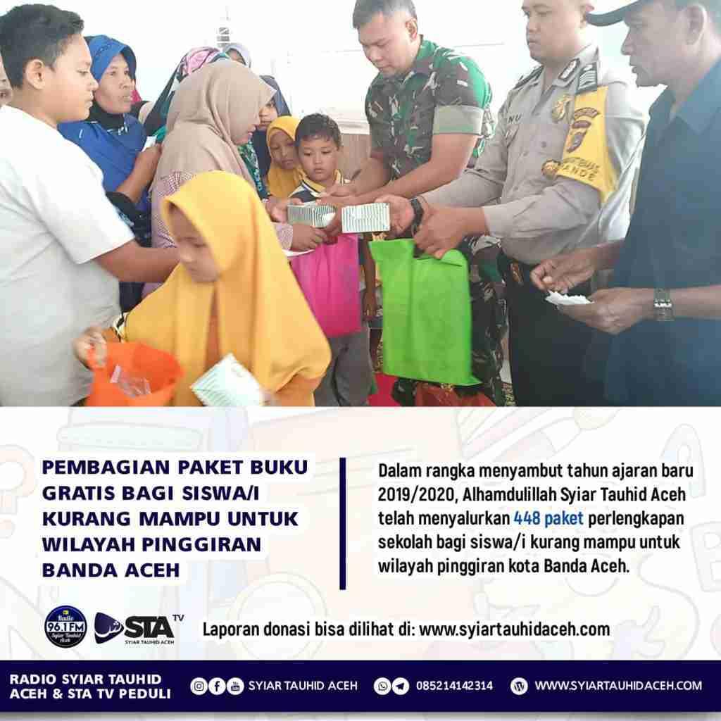 Laporan Donasi Program Berbagi Perlengkapan Sekolah 2019/2020 Bagi Siswa/i Kurang Mampu di pinggiran kota Banda Aceh