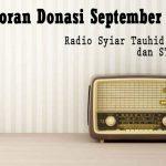 Laporan Donasi Syiar Tauhid Aceh Bulan Septeber 2020
