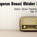 Laporan Donasi Syiar Tauhid Aceh Bulan Oktober 2020